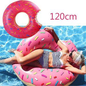 JEUX DE PISCINE Bouée Donut 120cm Gonflable Natation Été jouer