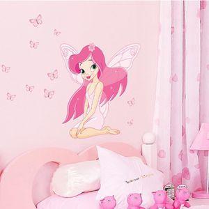 STICKERS Princesse des Fées Papillon Stickers vinyle Art Mu