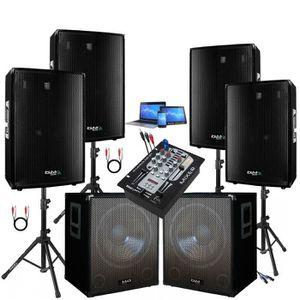 PACK SONO PACK SONO AMPLIFIÉ 4000W + TABLE DE MIXAGE DJM 150