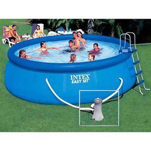 PISCINE Kit piscine Intex EASY SET ronde 4.57m x 1.22m