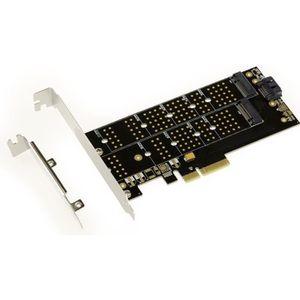 CARTE CONTROLEUR Carte Controleur PCIe pour SSD M.2 - 2 ports 1x SS