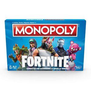 JEU SOCIÉTÉ - PLATEAU Monopoly - Jeu de societe Monopoly Fortnite - Jeu