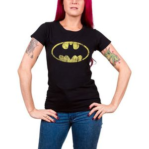T-SHIRT Batman T Shirt Classic Distressed Logo officiel DC