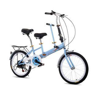 VÉLO PLIANT 20'' Vélo Bicyclette Pliable Vélo 2 sièges Bicycle