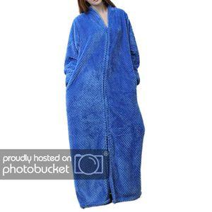 PYJAMA Pyjama Homme en Polaire Longue Hiver Bleu XL