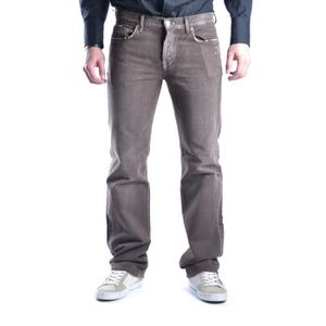 JEANS 7 FOR ALL MANKIND HOMME MCBI13187 MARRON COTON JEA