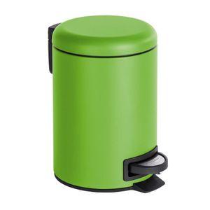 5 Litres Acier Inoxydable 14 x 29,5 x 28 cm Poubelle WC Poubelle plastique Collecteur de déchets Poubelle cosmétique WENKO 22159100 Poubelle à Pédale Sqaure Satiné