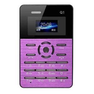 Téléphone portable Mini Telephone portable violet Carte Téléphone Mob