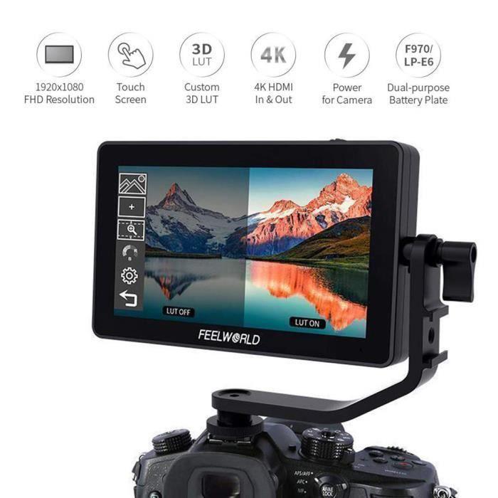 FEELWORLD F6 plus 5.5inch Suppor 4K 3D appareil photo reflex numérique Moniteur champ pour appareil photo reflex numérique