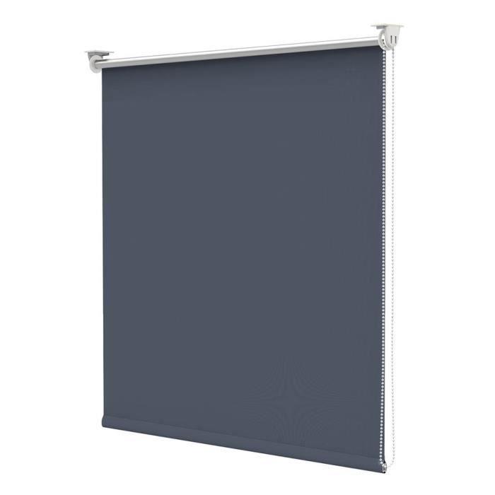BonDeco Store Enrouleur Occultant Isolant Thermique Opaque Bleu Foncé 90x170