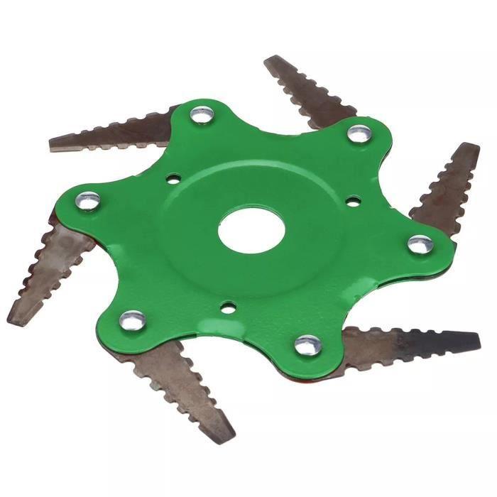 Tondeuse à gazon en acier pour outils de jardin, coupe-brosse à tête d'herbe à 6 dents KIT QUINCAILLERIE MEUBLE ke6984