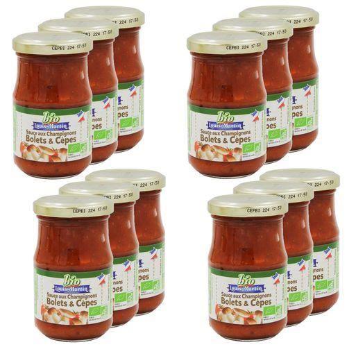 Lot 12X Sauce aux champignons BIO - Louis Martin - pot 190g