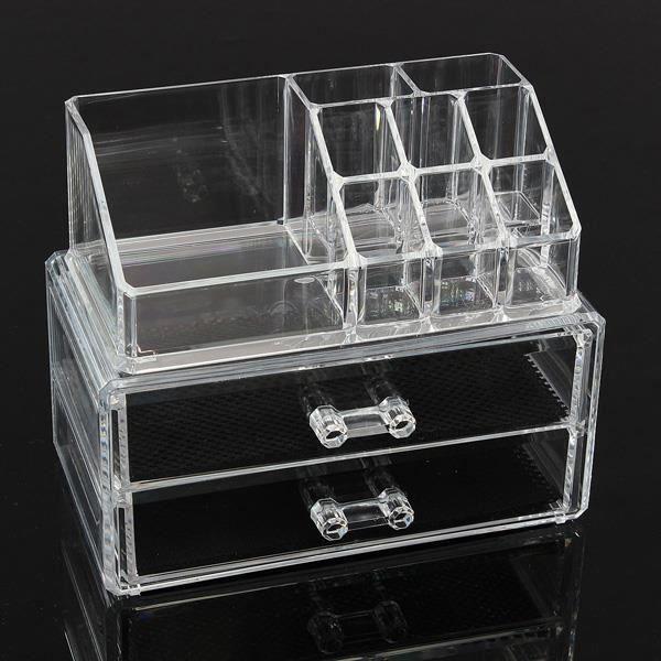 Maquillage De Stockage Acrylique Boîte Organisateur Cosmétique Vitrine Transparent SA00022