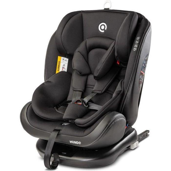 MONDO - Siège auto évolutif groupe 0+/1/2/3 bébé/enfant 0-36kg - Siège pivotant 360° + Harnais 5 points - Face/Dos à la route -