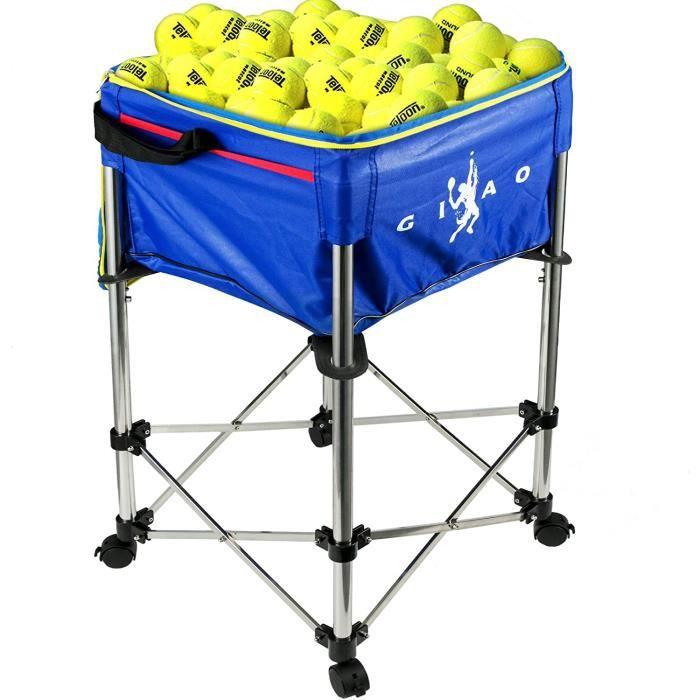 BALLE DE TENNIS Chariot Peacutedagogique Bacs agrave Balles de Tennis de Capaciteacute 160 Sac Balle de Baseball Tennis Chariot10