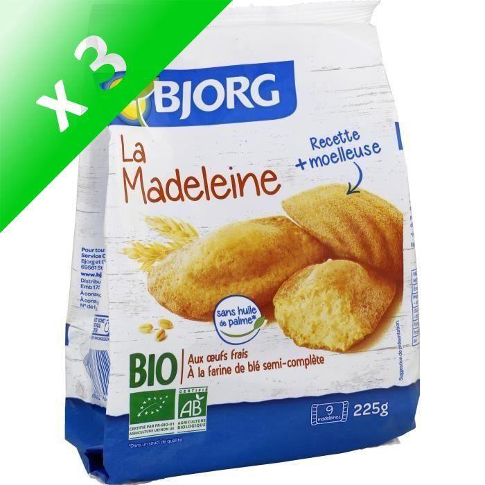 [LOT DE 3] Bjorg La Madeleine 225g