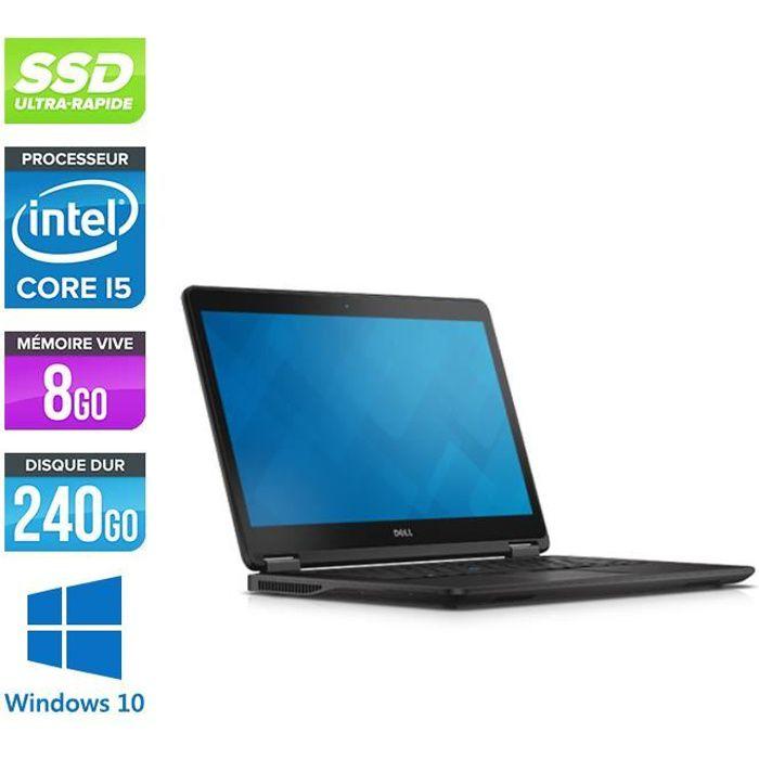 Pc portable Dell E7450 - i5 - 8Go - 240Go SSD - Windows 10