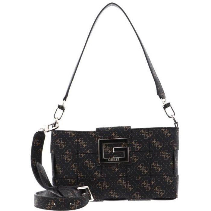 GUESS Liberty City Shoulder Bag Brown Logo [133304] - sac à main sac a main