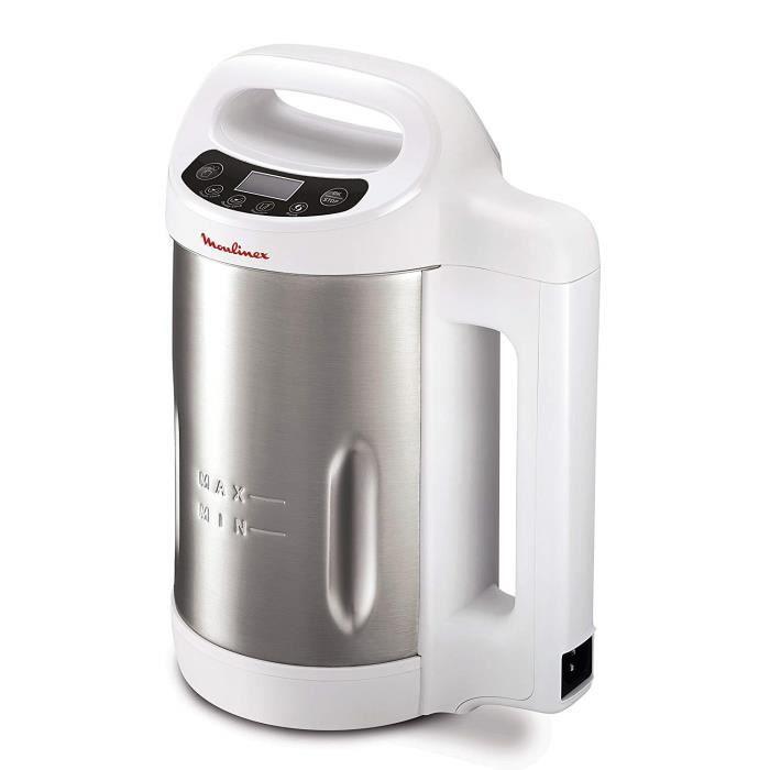 Blender Chauffant de 1,2L avec écran digital 1000W gris blanc
