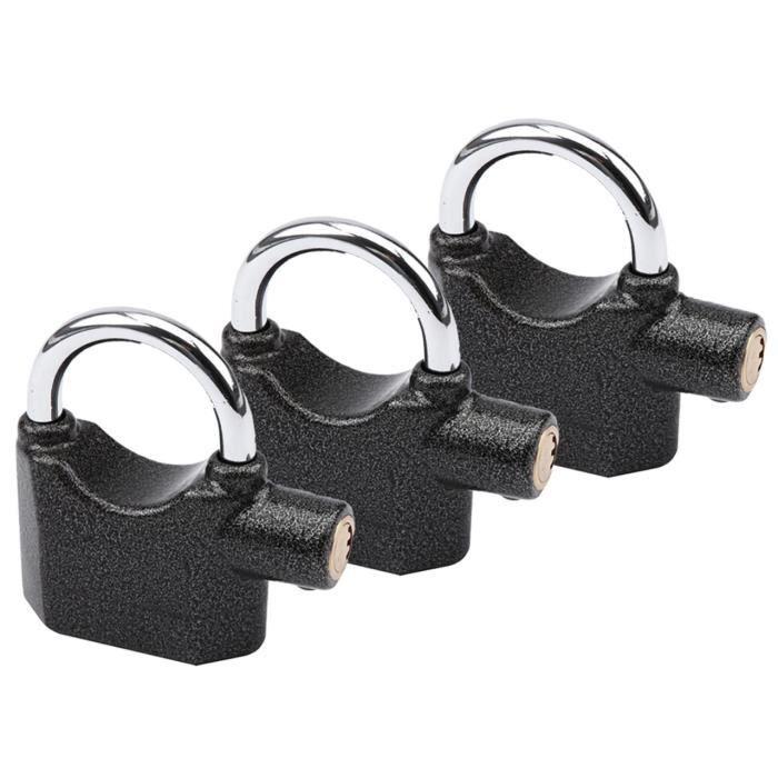 Cadenas OLYMPIA S 100 avec fonction alarme 100dB Protège les garages, les pièces intérieures et les grilles d'entrée de jardin e...