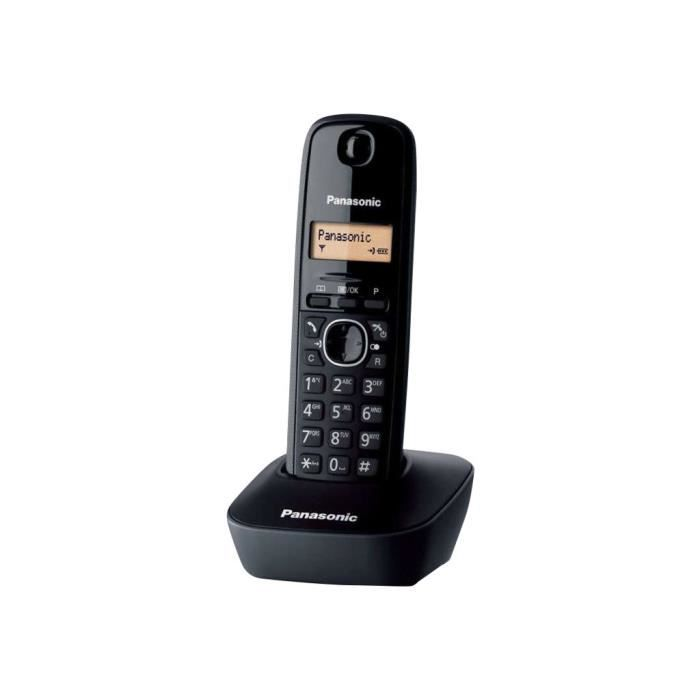 Panasonic KX-TG1611NLH Téléphone sans fil avec ID d'appelant DECT