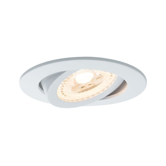 Paulmann 500.64, Recessed lighting spot, 3 ampoule(s), LED, 3,5 W, 180 lm, Blanc