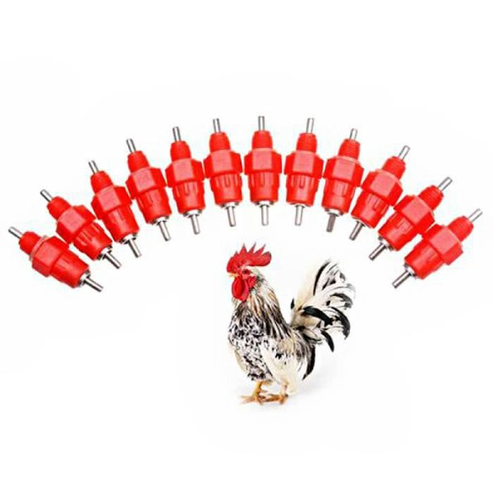 Tétines à boire de volaille de Style fileté portable mamelons d'eau pour poulet / dinde oies canard - 10 pièces SMARTPHONE
