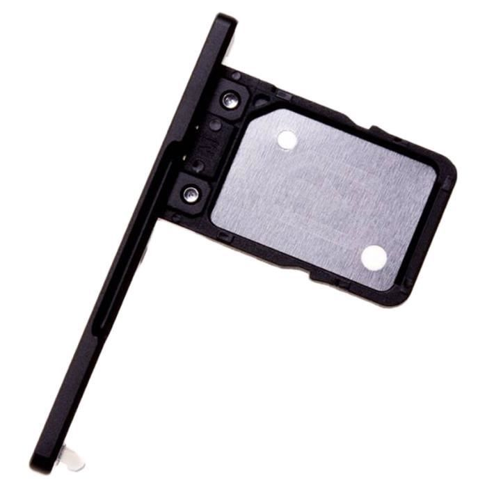 Sony Xperia XA1 (G3121, G3123, G3125) Tiroir Carte Single SIM, Piece de Remplacement Original, Noir