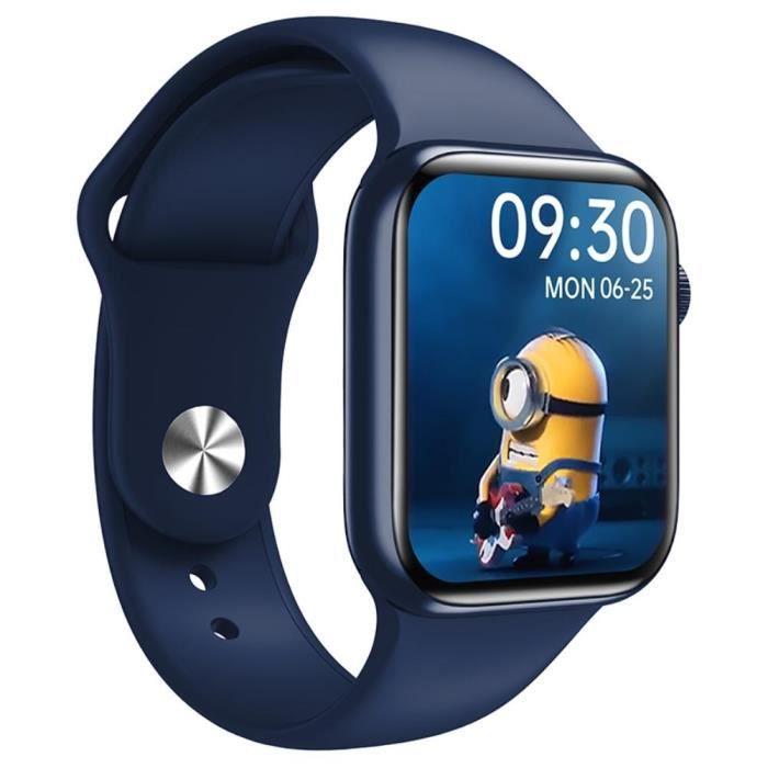 Montre connectée sport Bluetooth Appel HW16 Universel Étanche Surveiller Fréquence Cardiaque,Pression Artérielle,Calories-Bleu