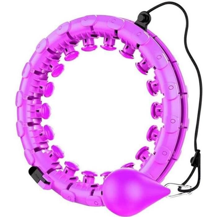 AWY31504-Hula Hoop,Cerceau de fitness pour adulte - Cerceau large et réglable avec picots de massage et 24 pièces amovibles