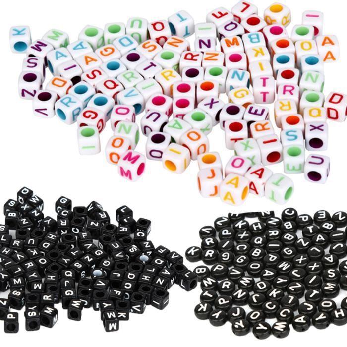100 x Perles acrylique-Cube 8mm-Couleur Mixte