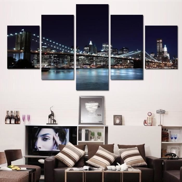 unframed 5 pcs d cor peinture murale art new york city