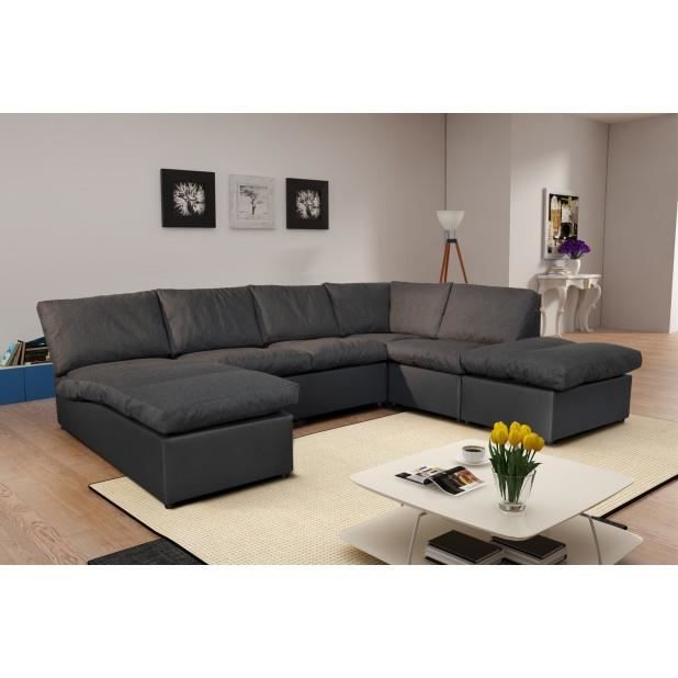 canap d 39 angle modulable avanti gris fonc panoramique achat vente canap sofa divan. Black Bedroom Furniture Sets. Home Design Ideas