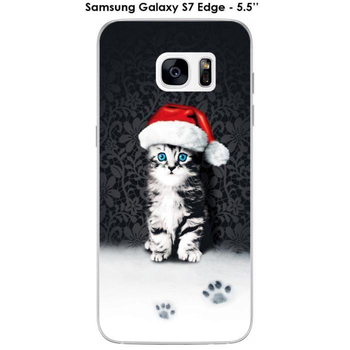 Coque Samsung Galaxy S7 Edge design Feli'Noël - Cdiscount Téléphonie