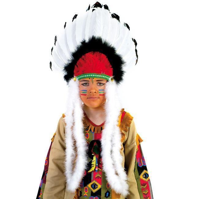Generique Coiffe Indienne color/ée Enfant