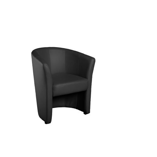 fauteuil picasso simili cuir coloris noir achat. Black Bedroom Furniture Sets. Home Design Ideas