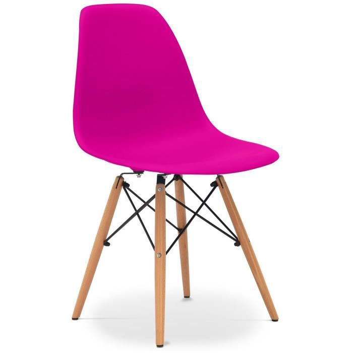 chaise eames dsw style pink rose achat vente chaise les soldes sur cdiscount cdiscount. Black Bedroom Furniture Sets. Home Design Ideas
