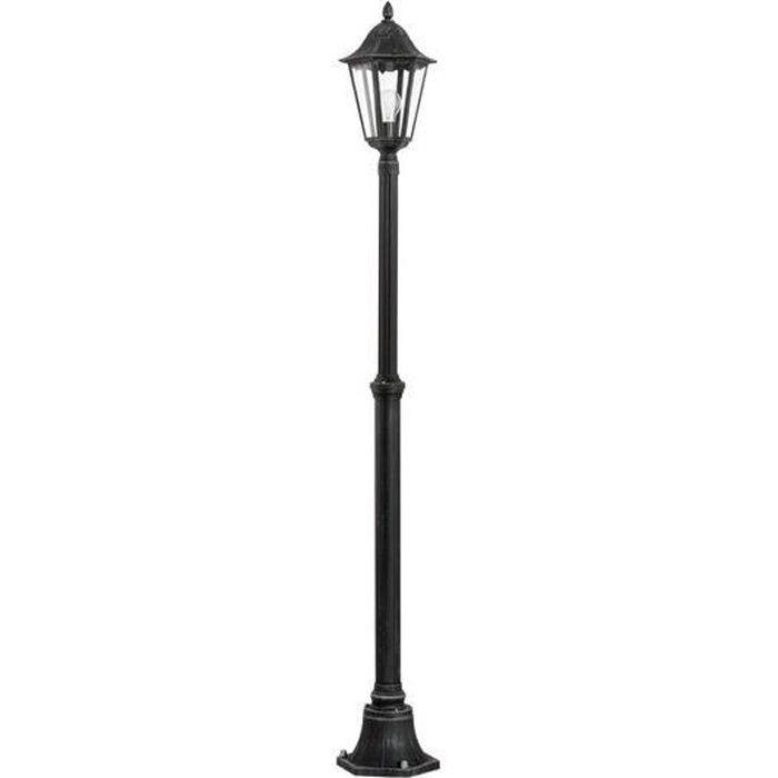 LAMPE DE JARDIN  NAVEDO - Lampadaire d'extérieur Métal Noir H200cm