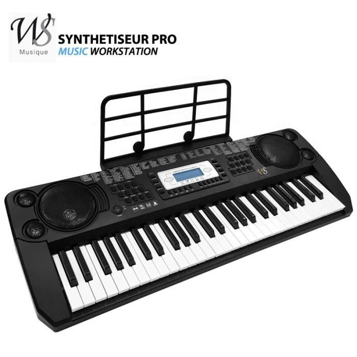 synthetiseur electrique clavier piano 54 touches pro pas cher achat vente synth tiseur. Black Bedroom Furniture Sets. Home Design Ideas