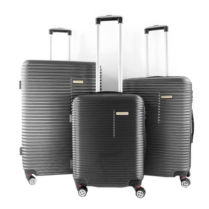 SET DE VALISES Lot de 3 valises rigides 75, 65 et 55 cm Anthracit