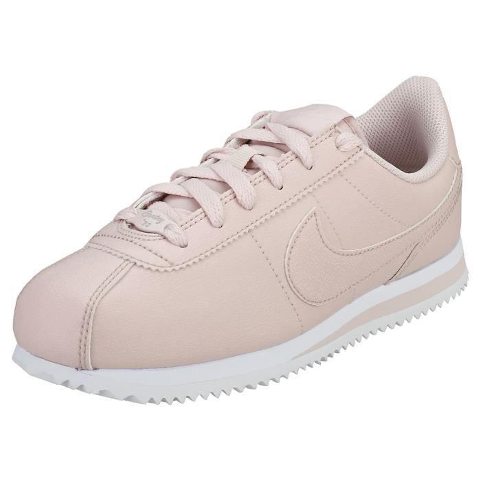 Nike Cortez Basic Sl Ss (gs) Femme Baskets Rose clair Rose ...
