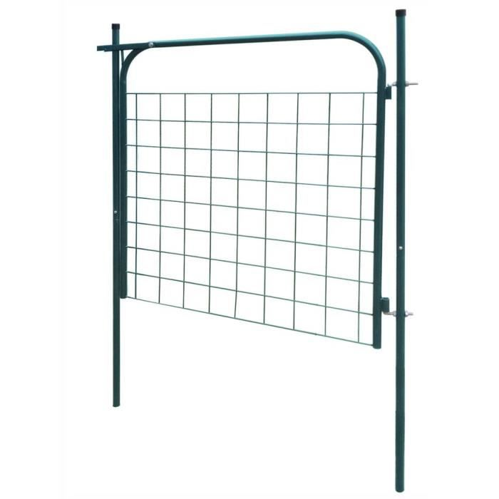 Portail de clôture de jardin 100 x 100 cm Vert Portail Portillon