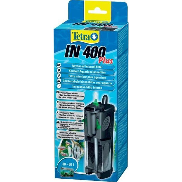 Tetra filtre int rieur pour aquarium in 400 plus achat for Interieur filter
