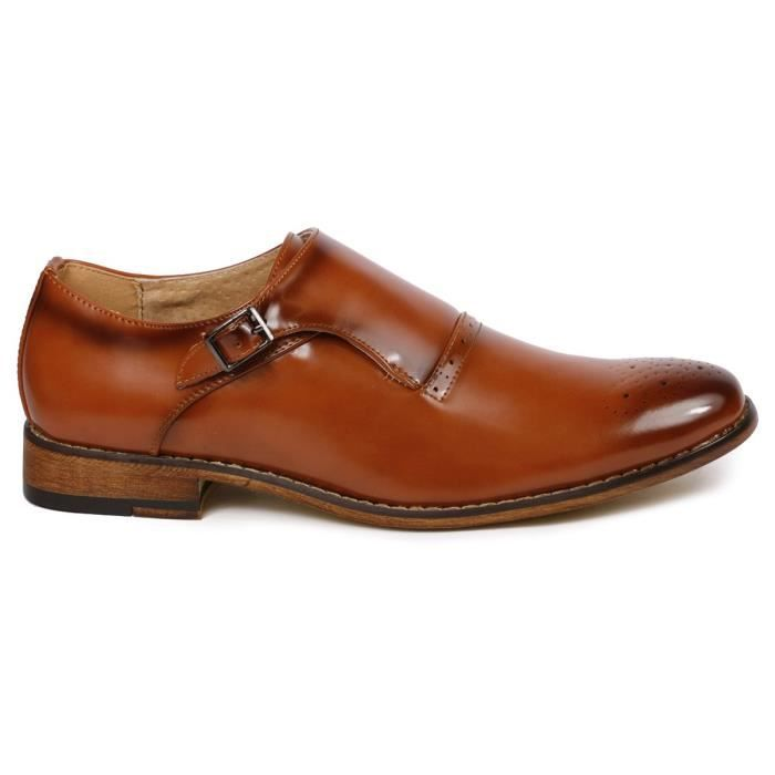 Mc112 Monk Strap Slip-on Loafers Dress Shoe HJKT5 Taille-44 1-2