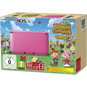 CONSOLE 3DS Pack Console 3DS XL Rose + Jeu Animal Crossing
