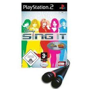 JEU PS2 PACK DISNEY SING IT CAMP ROCK + 2 micros / JEU CON