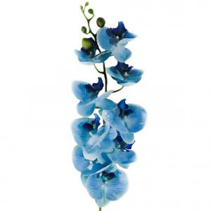 fleur artificielle orchid e bleue tige 1m achat. Black Bedroom Furniture Sets. Home Design Ideas