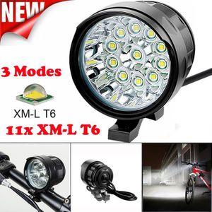 Chargeur 9 x LED Cree XM-L T6 15000lumen VTT Mountain Bike v/élo v/élo Head Light lampe frontale Sac de rangement