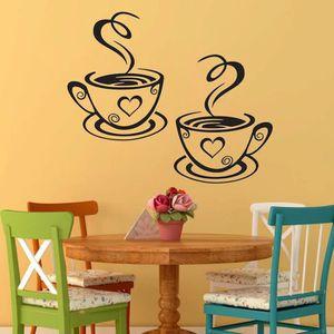 STICKERS Tasses à café cuisine Wall Stickers Cafe vinyl art