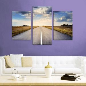 TABLEAU - TOILE A Road To The Sky Fall Split 3 Panels IMPRIMER Sur